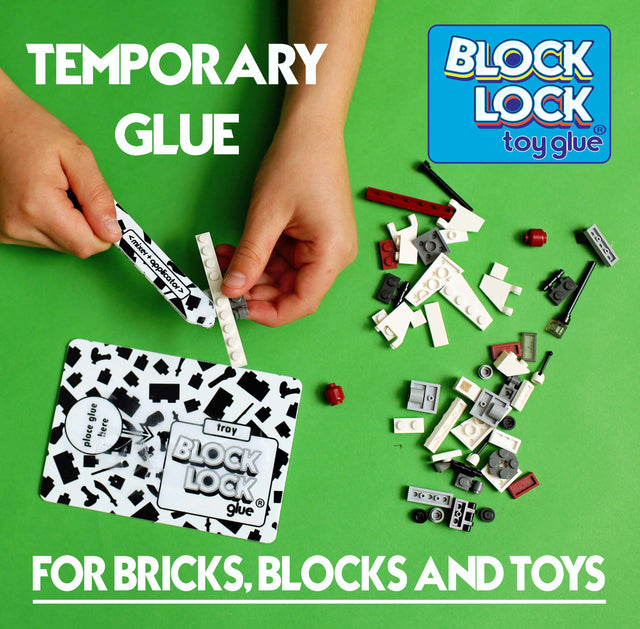 Temporary and removable BLOCK LOCK Toy Glue for Bricks , Blocks, LEGO and Toys