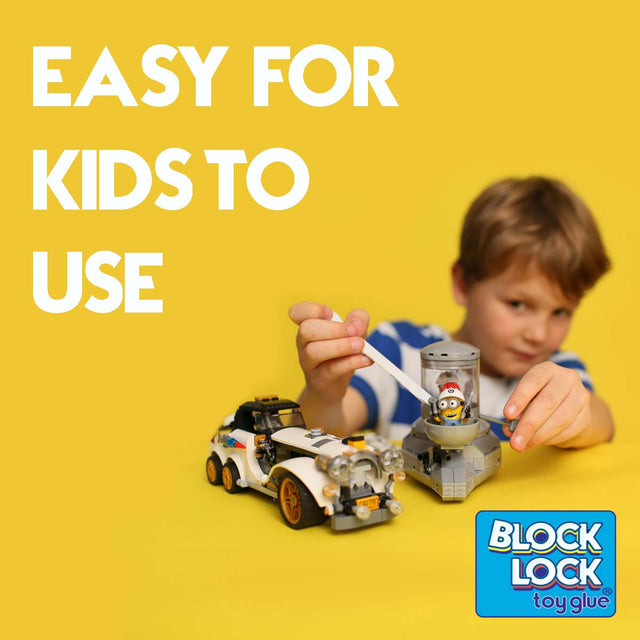 Children glue LEGO bricks easily with Block Lock Toy Glue