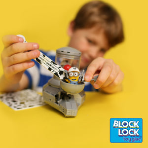 Glue your Minion Mega Bloks with Block Lock Toy Glue