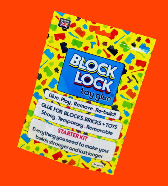 BLOCK LOCK Toy Glue STARTER KIT - for Toy BRICKS + BLOCKS + LEGO
