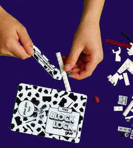BLOCK LOCK Toy Glue - KIT D'APPLICATION pour aider à appliquer la colle