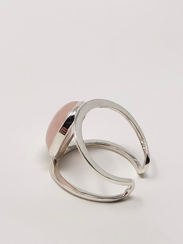 Sterling Silver Rose Quartz Ring