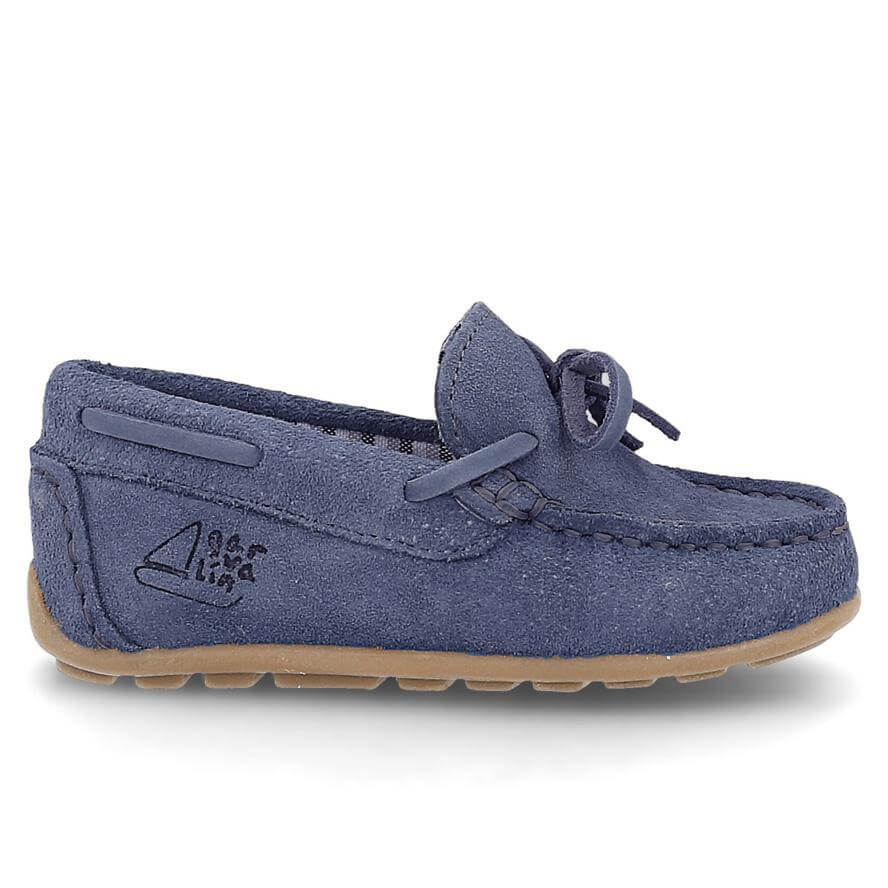 Garvalin Boys Mocassins Loafers in Leather - Navy