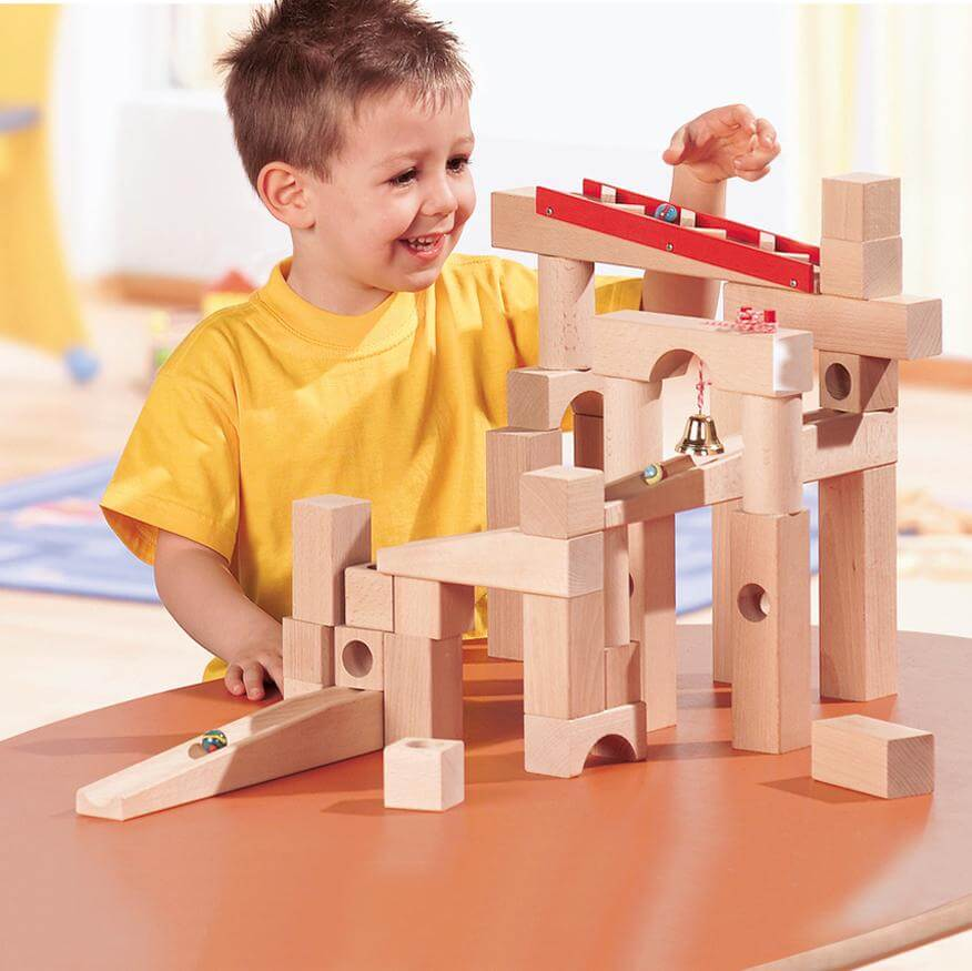 HABA Wooden Ball Track Marble Run 42 Pieces
