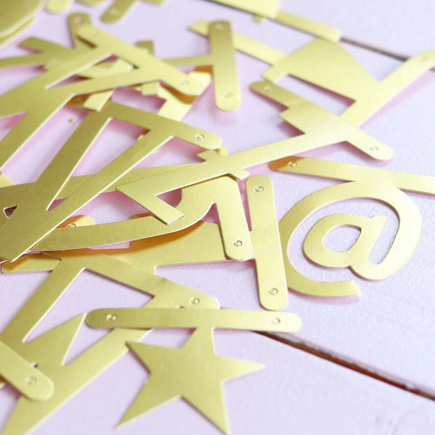 A Little Lovely Company Letter Banner  - Gold