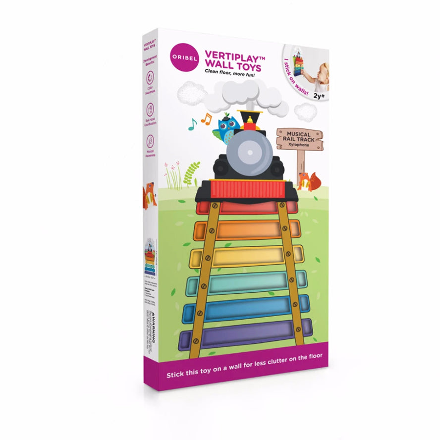 Oribel VertiPlay Xylophone Wall Toy - Musical Rail Track