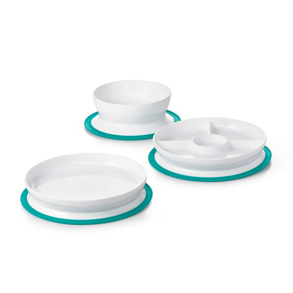OXO Stick & Stay Suction Divided Plate