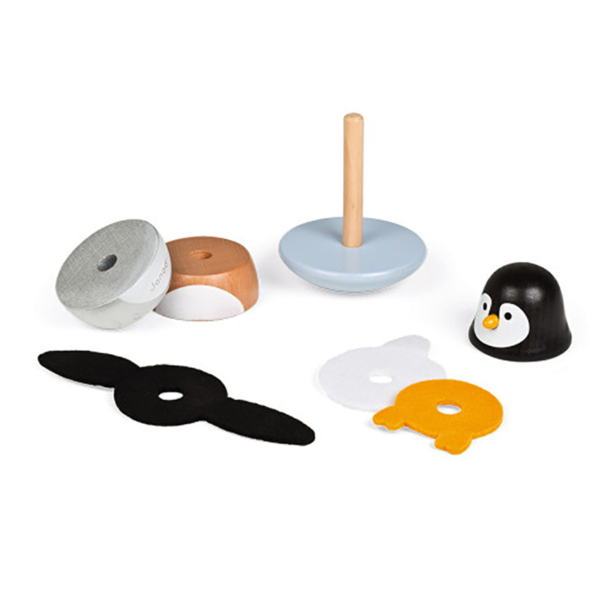 Janod Zigolos Penguin Stacker and Rocker