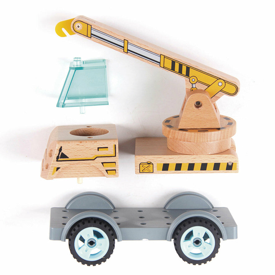 Varoom Kids Construction Crane Wooden Toy