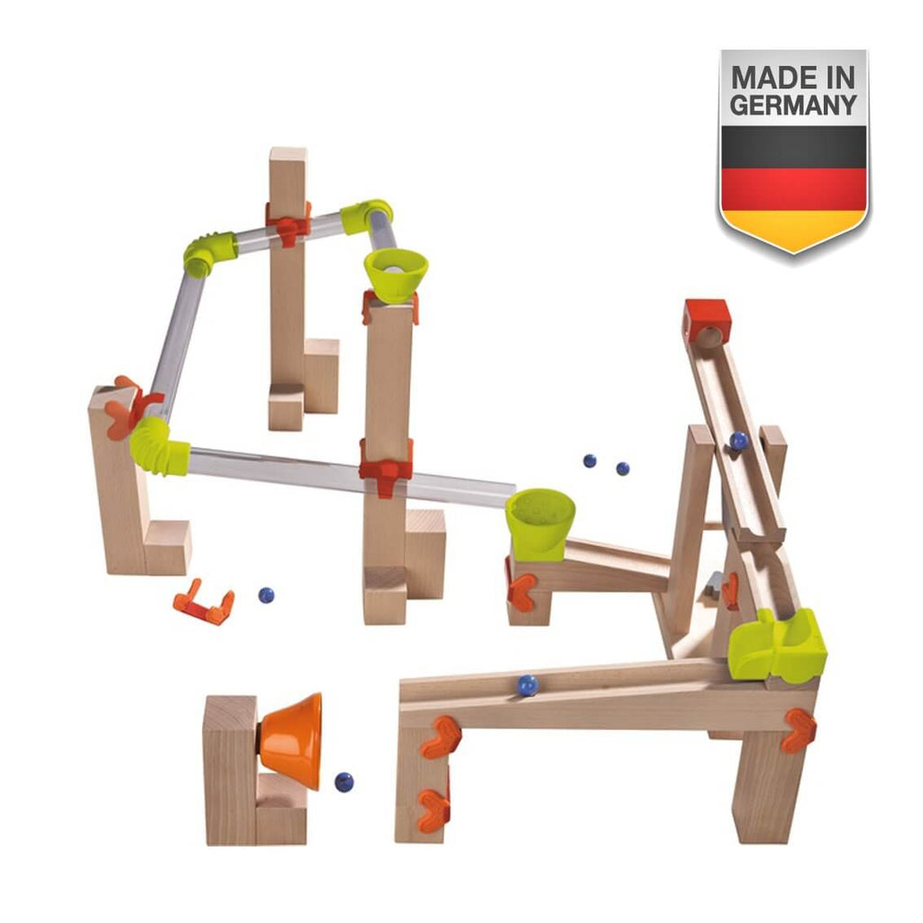 HABA Wooden Ball Track Basic Pack Sound Race