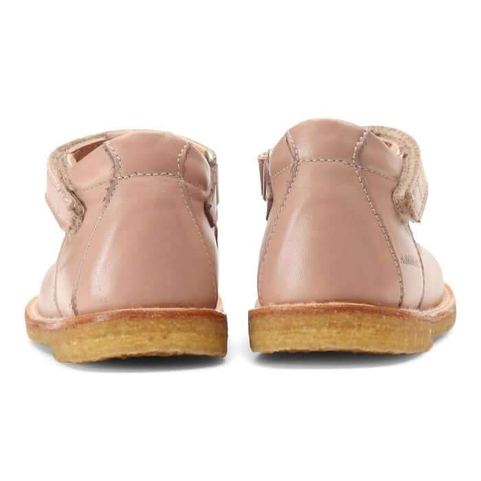 Angulus Mary Janes Girls Shoes with Heart - Nude