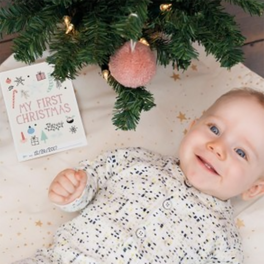 Milestone Cards Baby's First Christmas