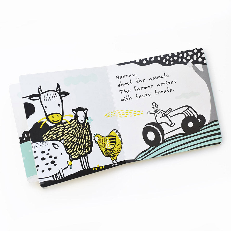 Wee Gallery Sound Book - Moo, Cluck, Baa!
