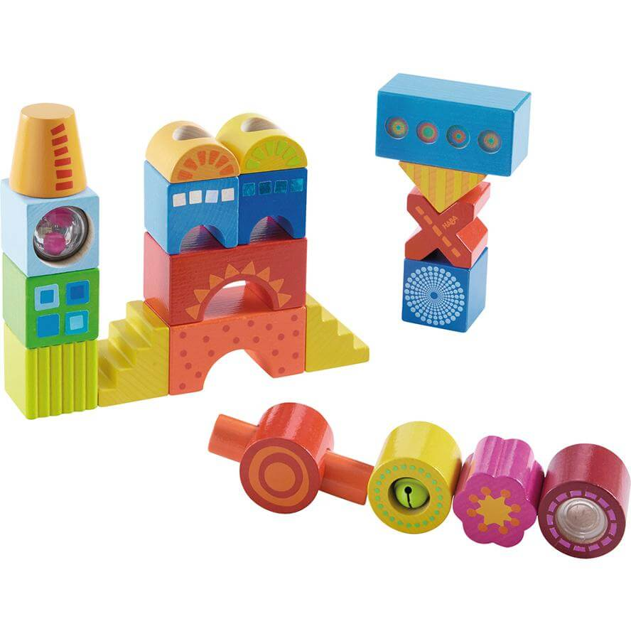 HABA Wooden Building Blocks Colour Joy 21 Pcs