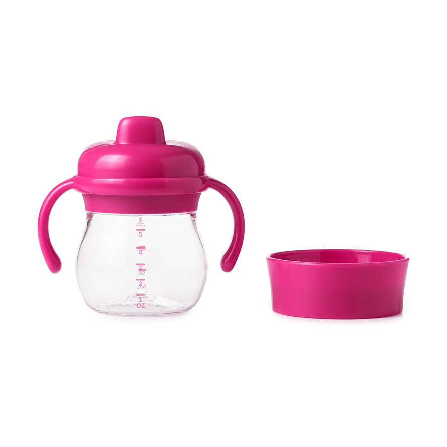 OXO Tot Transitions Hard Spout Sippy Cup Set - Raspberry
