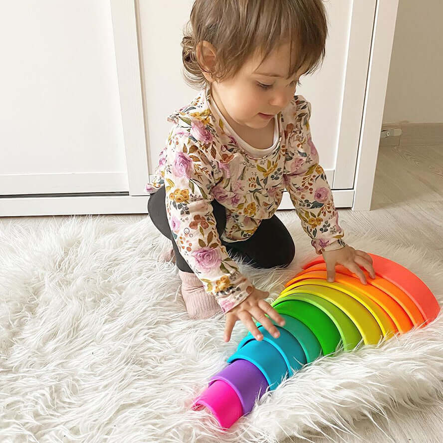Dena My First Silicone Rainbow Activity Toy
