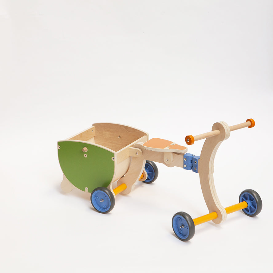 Mishidesign Grow Up Wooden Baby Walker 3 in 1