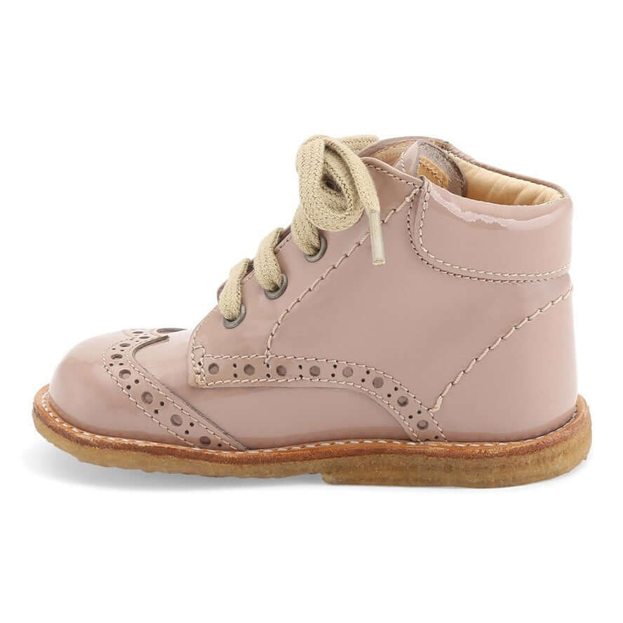 Angulus Starter Boots With Laces - Rose