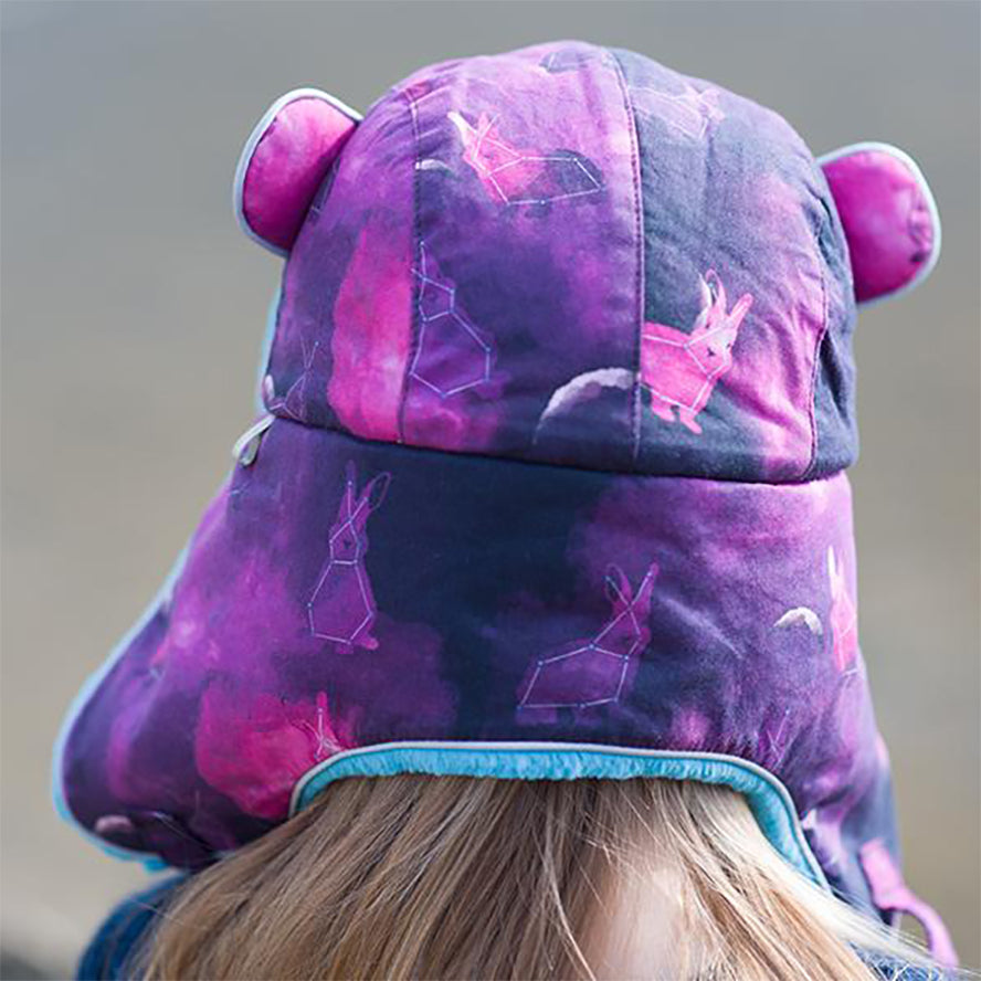 Little Hotdog Watson Arctic Cub Kids Trapper Hat - Space Bunny