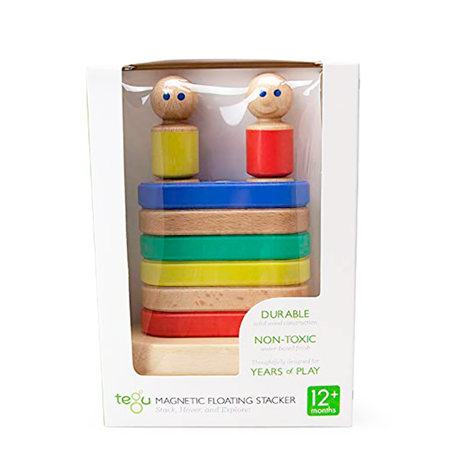 Tegu Magnetic Floating Stacker for Baby and Toddler 11 pieces