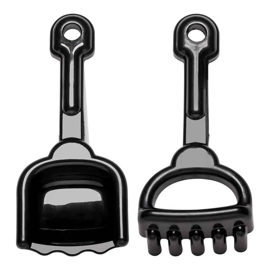A Little Lovely Company Bucket & Spade Set Beach Toys - Black