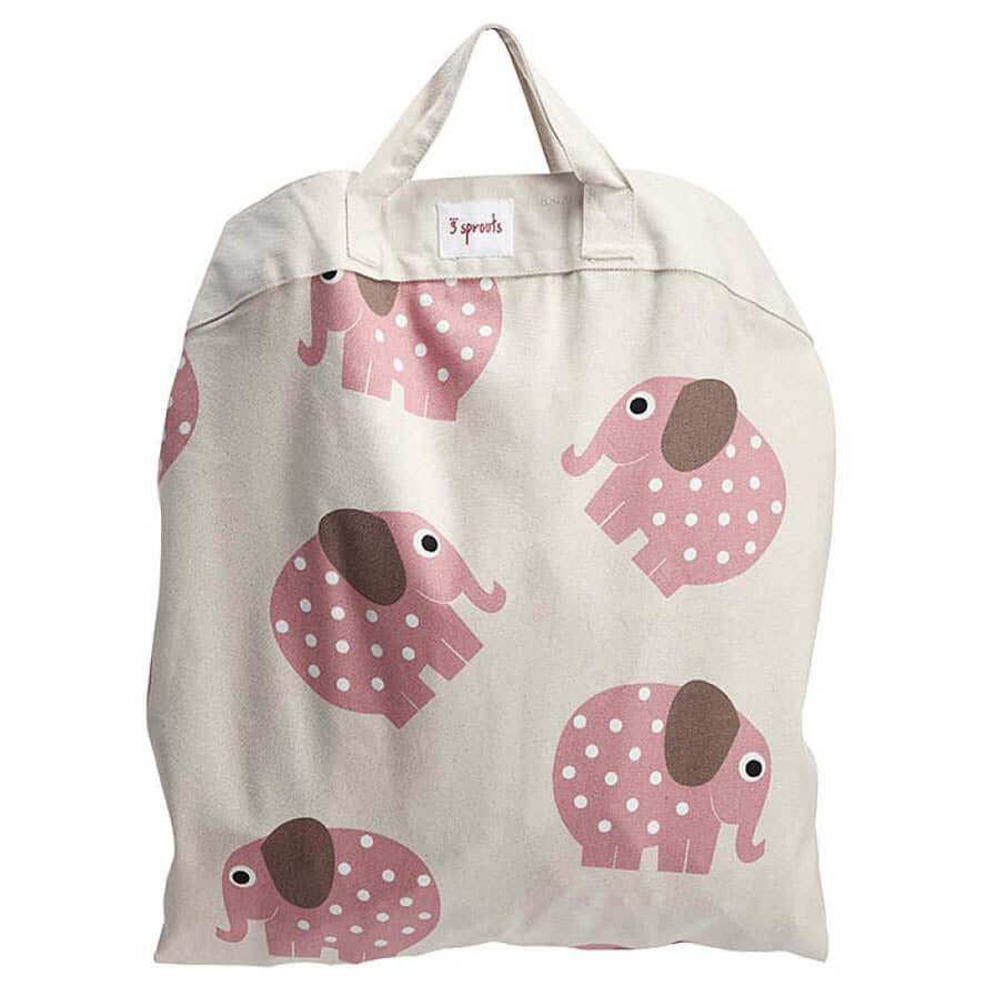 3 Sprouts Toy Storage Bag Play Mat  - Elephant