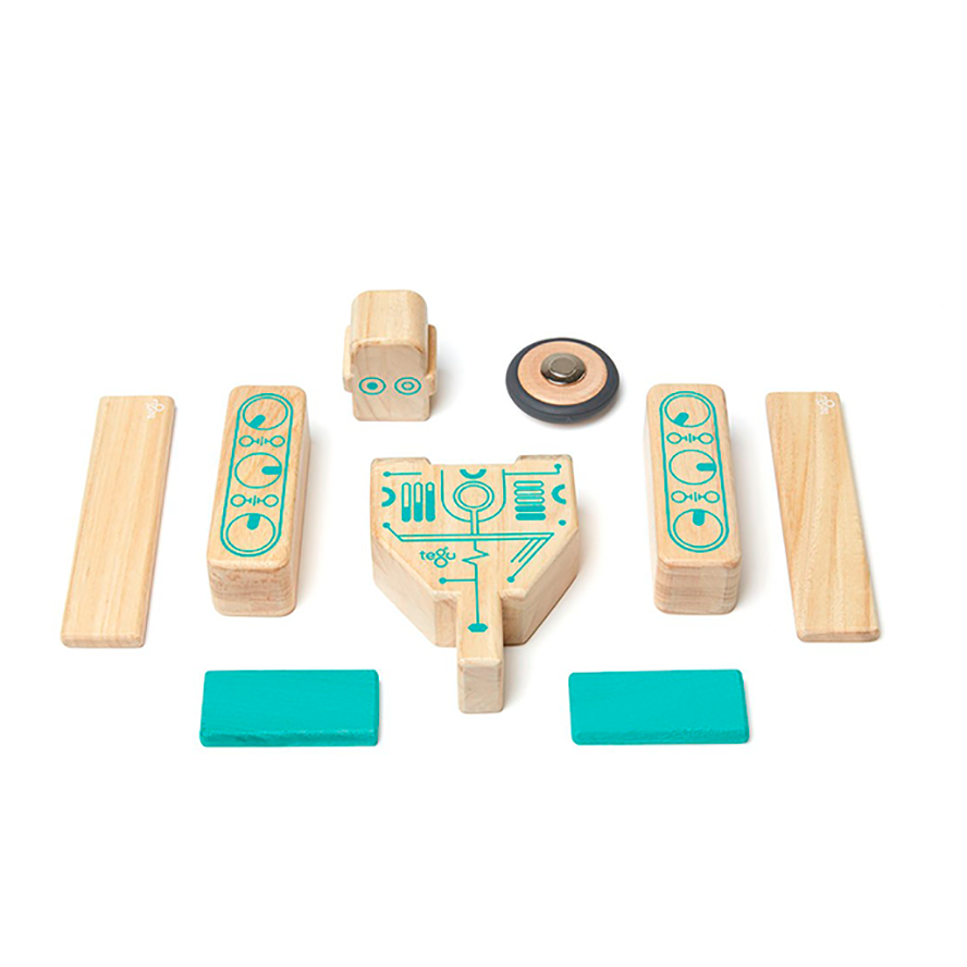Tegu Magnetic Wooden Blocks 9 Pieces - Magbot