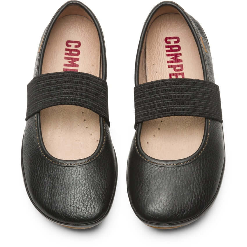 Camper Kids Right Girl's Ballet Flats - Black