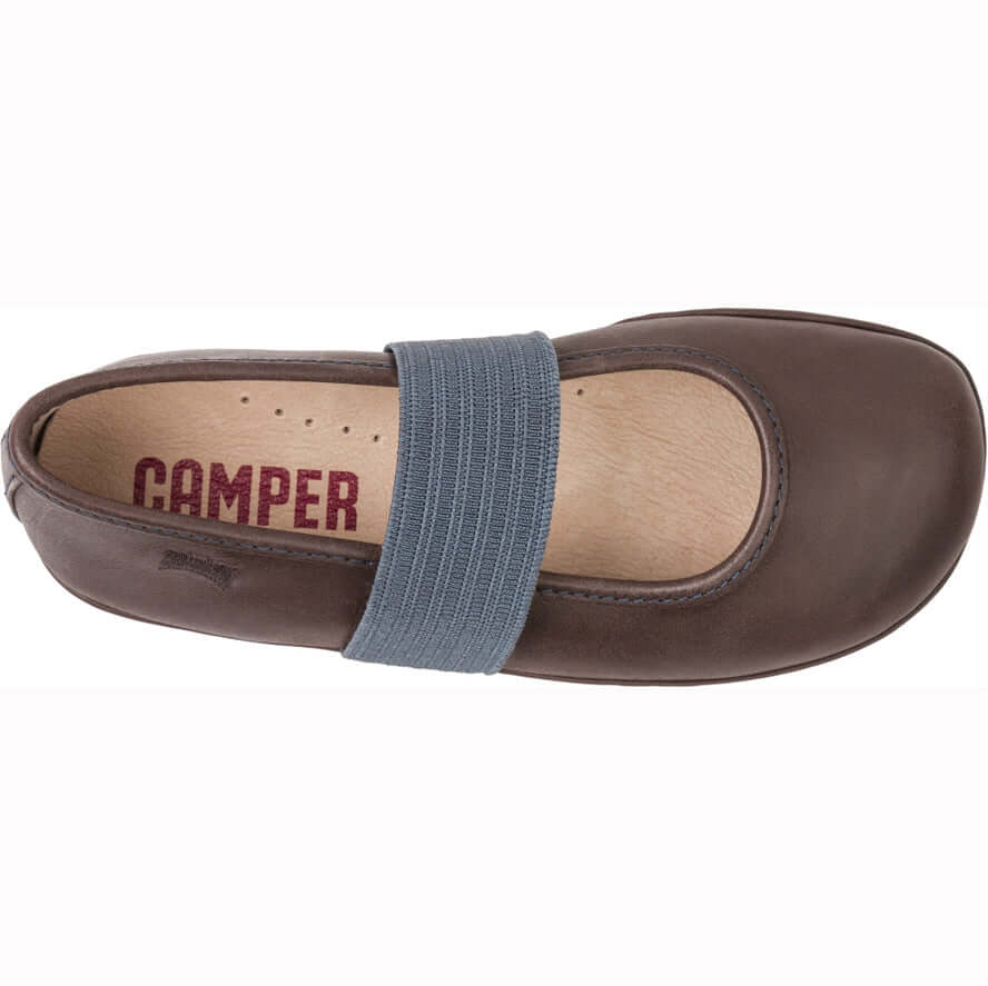 Camper Kids Right Girl's Ballet Flats - Brown