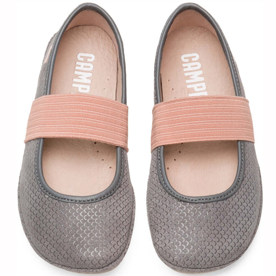 Camper Kids Right Girl's Ballet Flats - Grey