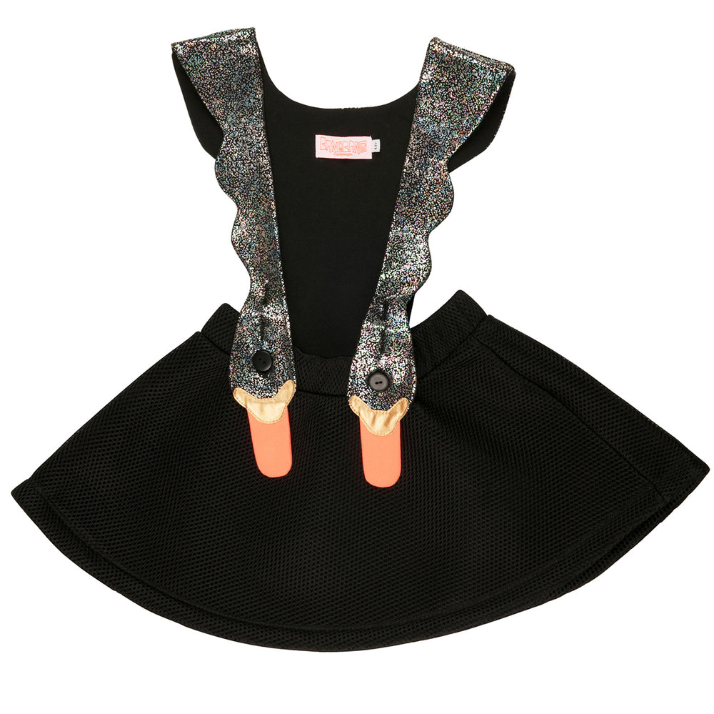 WAUW CAPOW by BANG BANG Copenhagen Black Bird Girls Dress