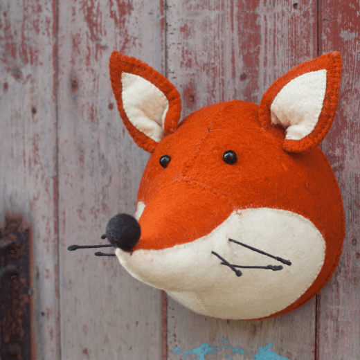 Fiona Walker England Animal Head Fox