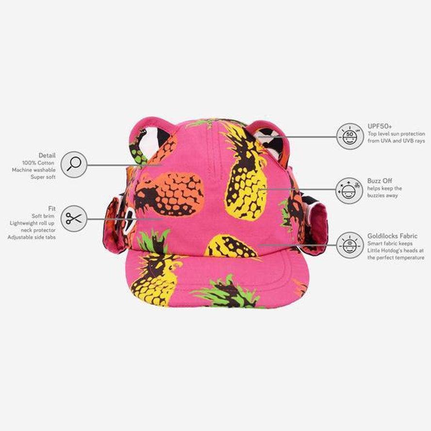 Little Hotdog Watson Cub Kids Sun Cap - Pineapple Punch