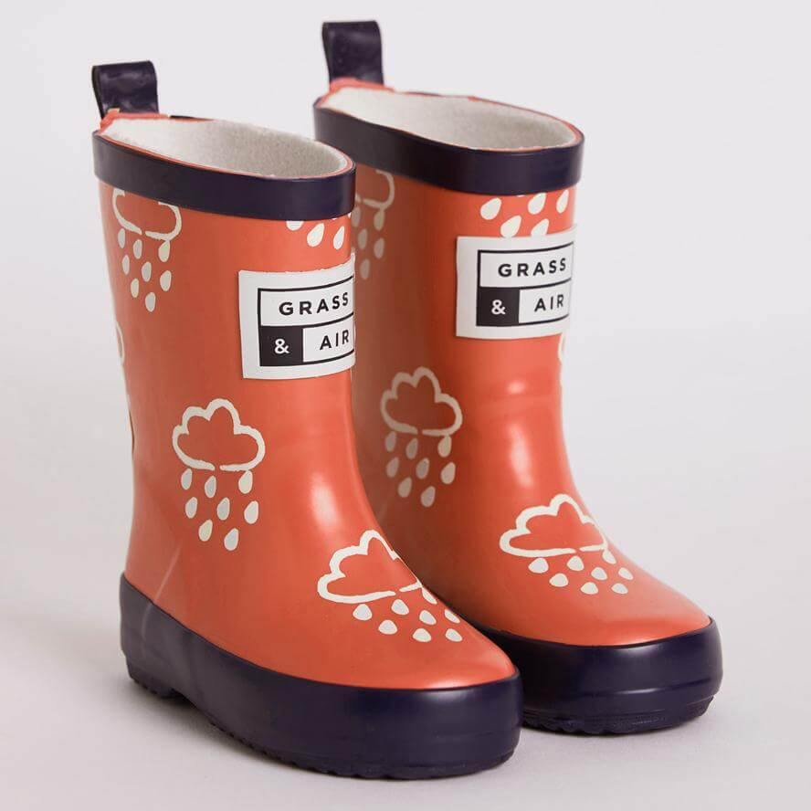 Grass & Air Kids Mini Adventure Wellies With Bag