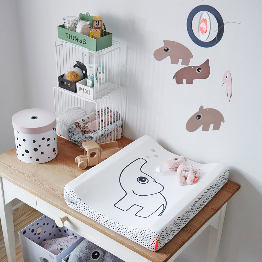 Done by Deer Changing Table Mat Elphee - White