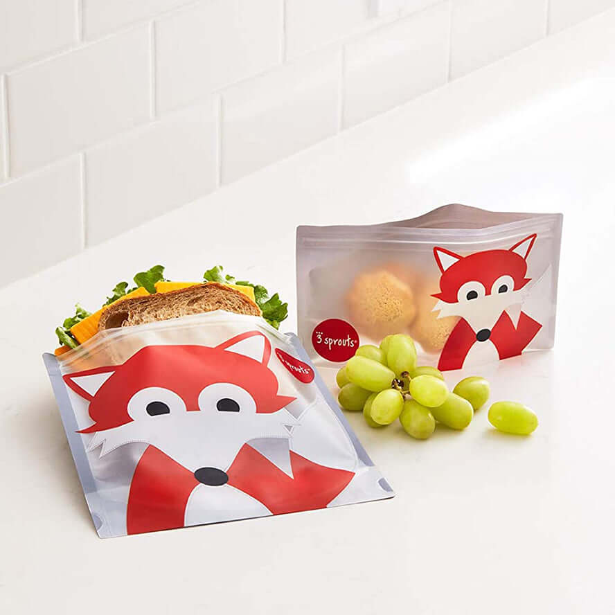 3 Sprouts Sandwich Bags 2 pack - Fox