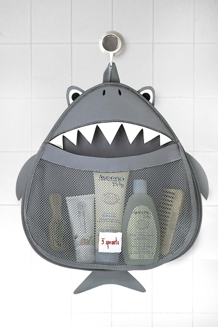 3 Sprouts Bath Storage - Grey Shark
