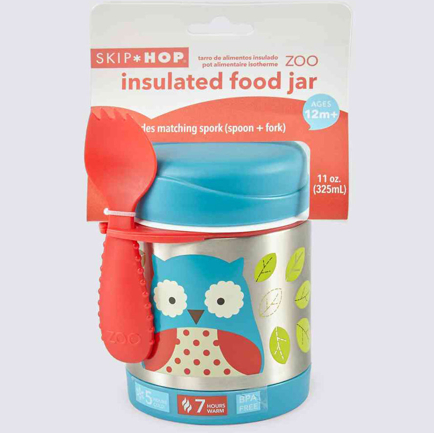 Skip Hop Zoo Insulated Kid Food Jar - Owl