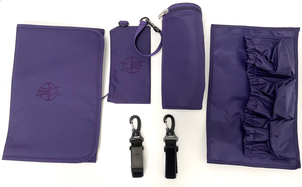 Lassig Changing Bag Messenger Diaper - Triangle Purple