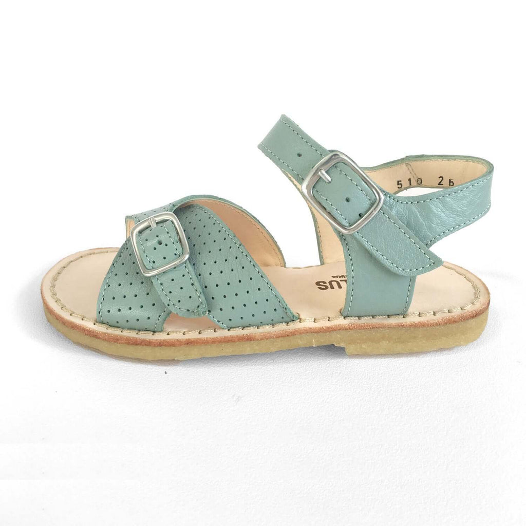 Angulus Girls  Leather Sandal - Mint