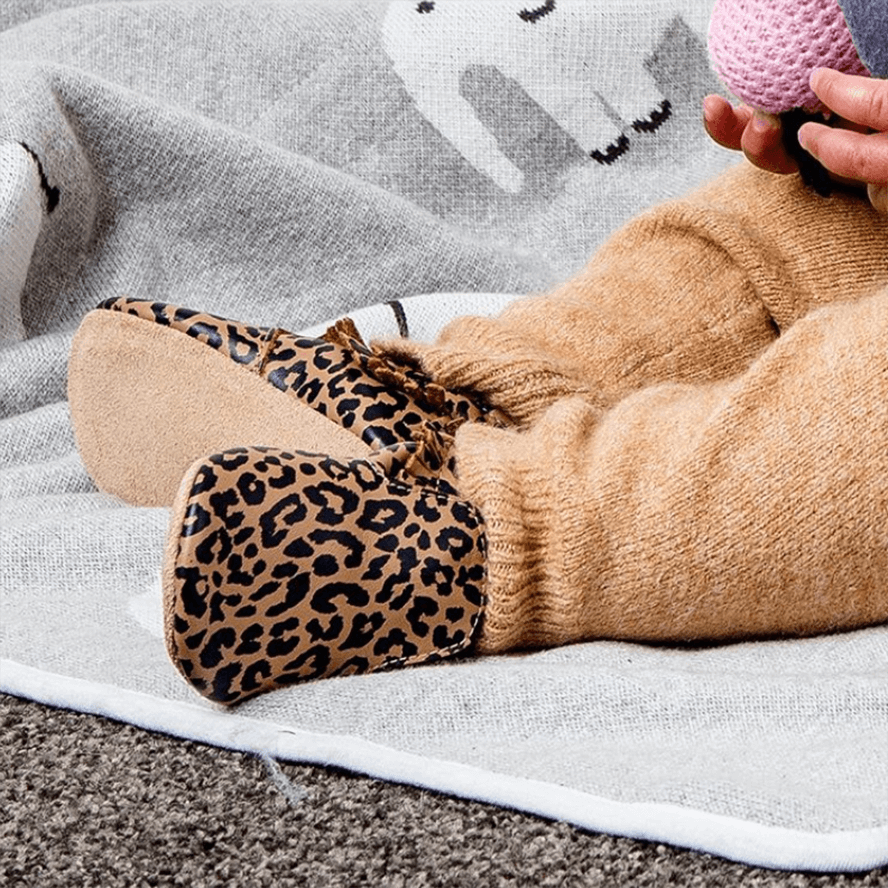 Bobux Soft Sole Leopard Print - Gold