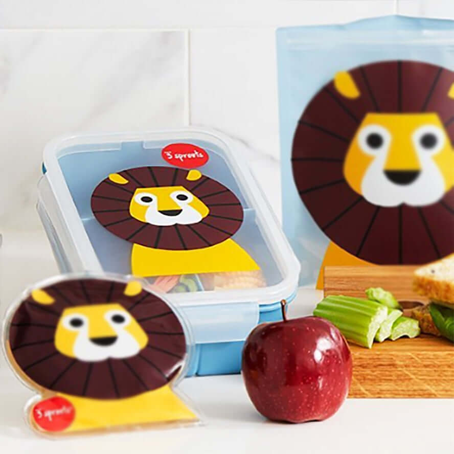3 Sprouts Kids Bento Lunch Box - Lion