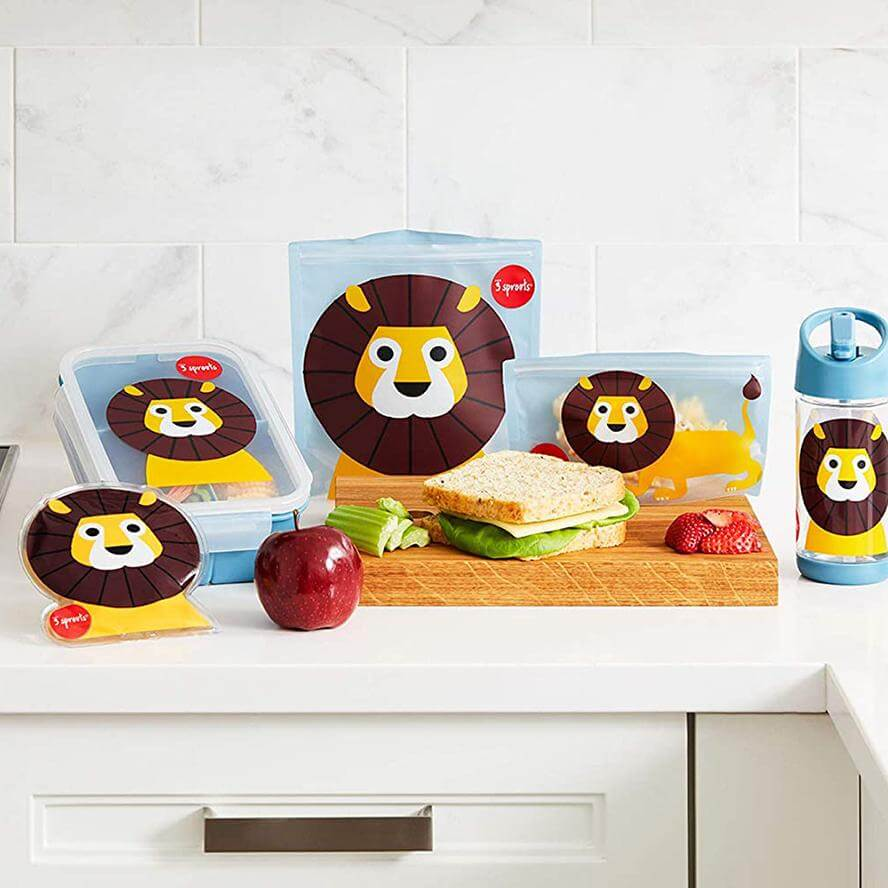 3 Sprouts Snack Bags 2 pack - Lion