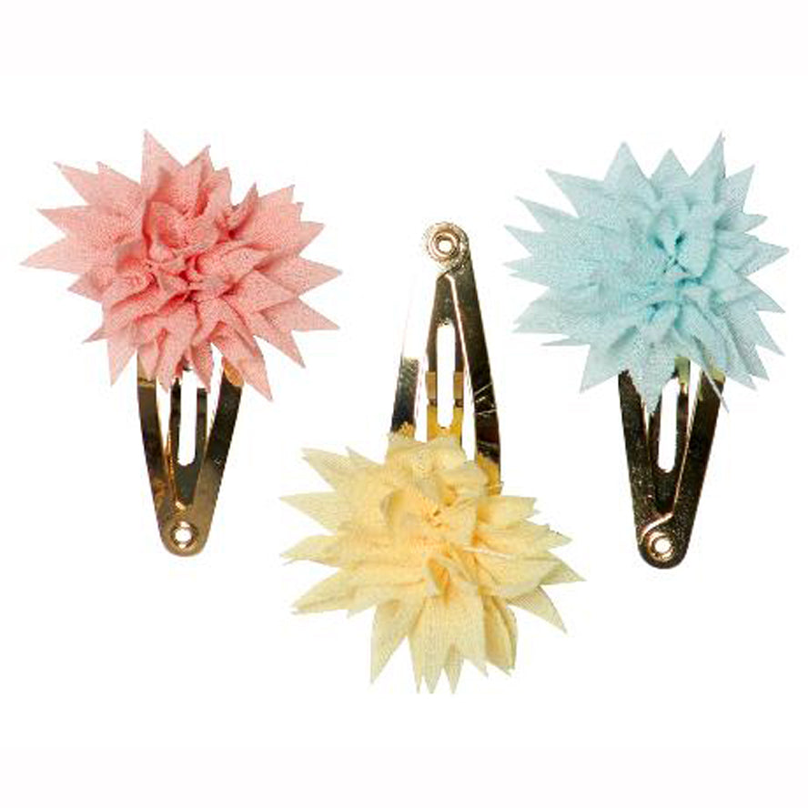 Maileg Dahlia Flower Hair Clips - Tricolour Summer