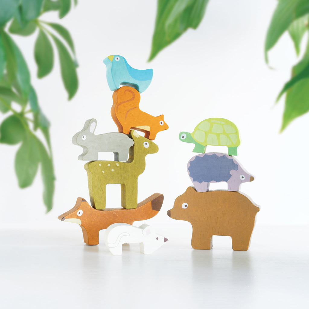 Le Toy Van Forest Stacking Animals & Bag