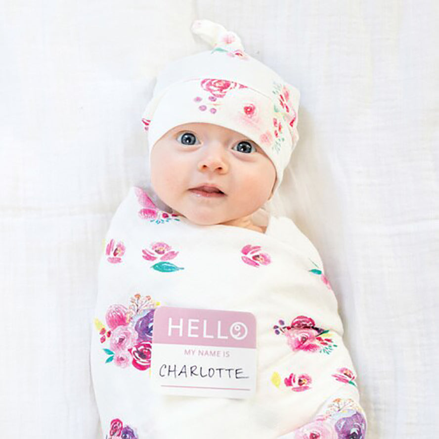 Lulujo Bamboo Hat and Swaddle Blanket