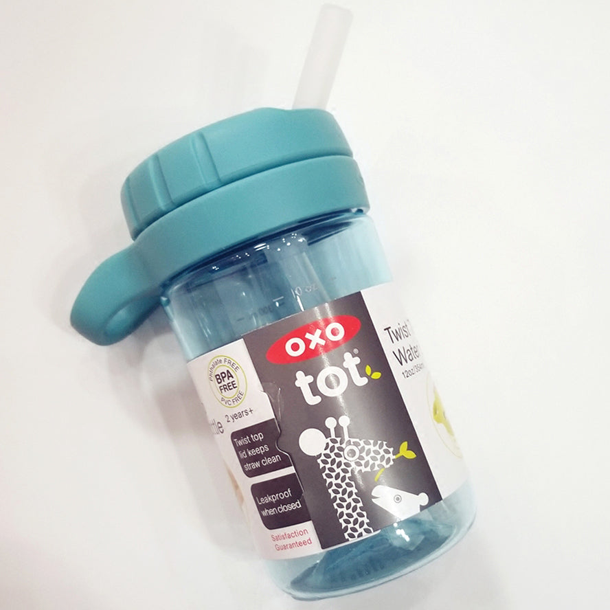 OXO Tot Twist Top Kids Water Bottle 340ml