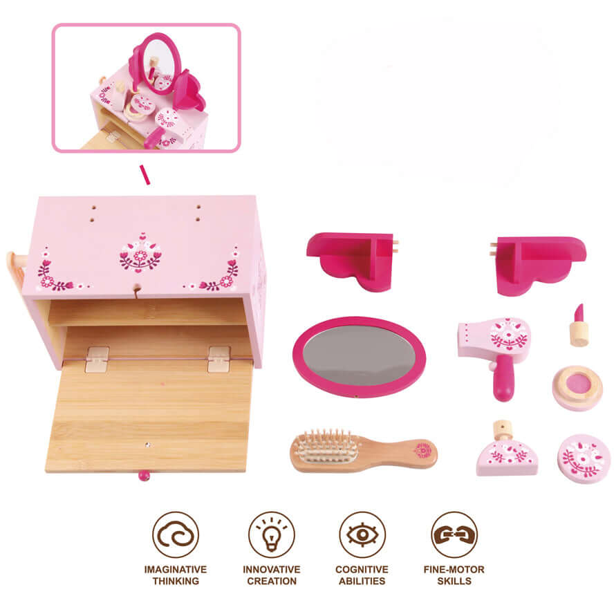 Boxset Portable Kids Bamboo Play Toy Set - Beauty