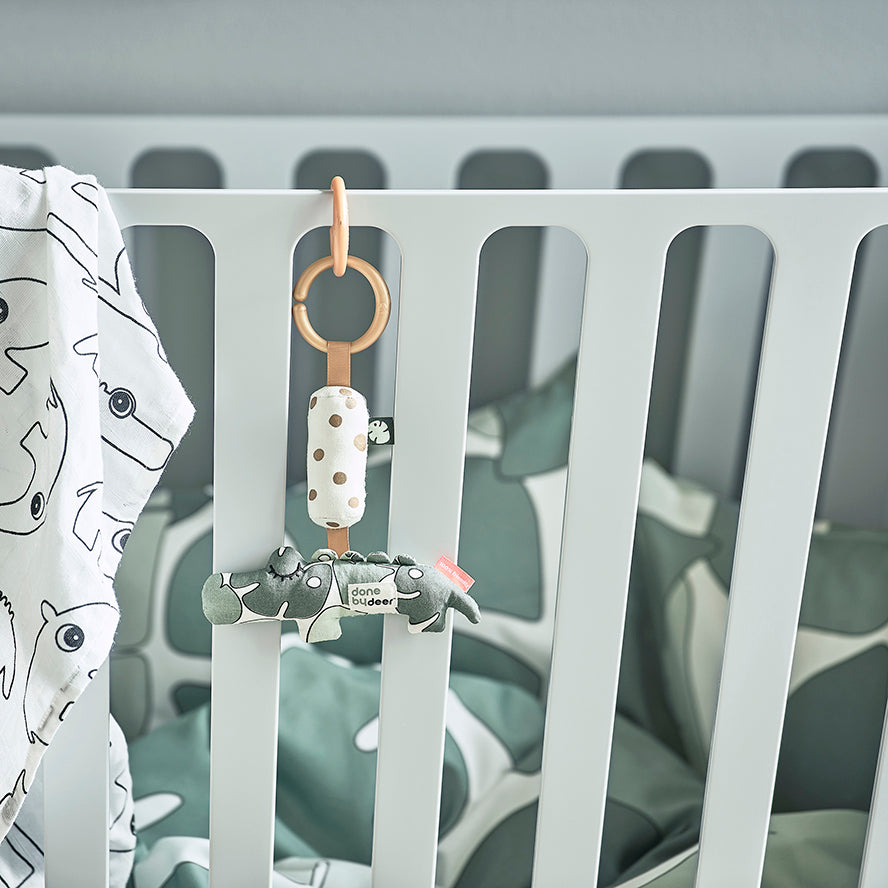 Done by Deer Baby Cot 60x120cm - Grey