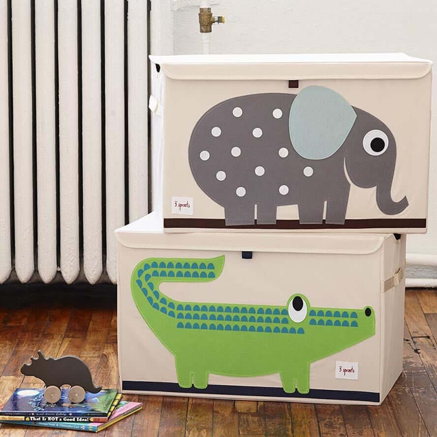 3 Sprouts Toy Storage Chest with Lid - Elephant
